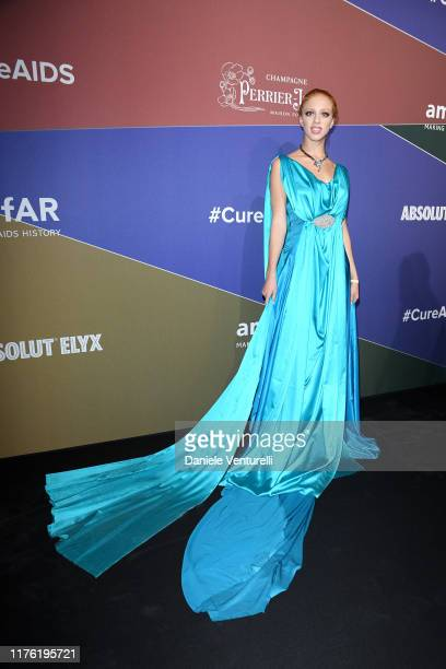 Anna Ermakova attends the amfAR Gala Milano 2019 at Palazzo Mezzanotte on September 21, 2019 in Milan, Italy.