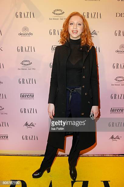 Anna Ermakova attends the GRAZIA Pop Up Breakfast on January 20, 2016 in Berlin, Germany.