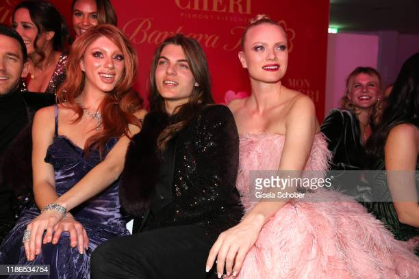 Anna Ermakova daughter of Boris Becker Damian Hurley son of Elizabeth Liz Hurley and Franziska Knuppe during the 10th Mon Cheri Barbara Tag at...