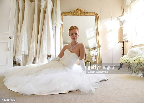 Anna Ermakova prepares ahead of the Queen Charlotte Ball on September 11 2015 in London England Queen Charlotte's Ball is the pinnacle event in the...