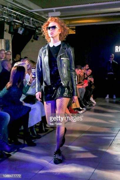 Anna Ermakova walks the runway during the Rodenstock Eyewear Show 'A New Vision of Style' at Isarforum on January 24 2019 in Munich Germany