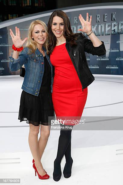 Anna Ewelina and Eva-Maria Reichert attends the 'Star Trek Into Darkness' German Premiere at Cinestar on April 29, 2013 in Berlin, Germany.
