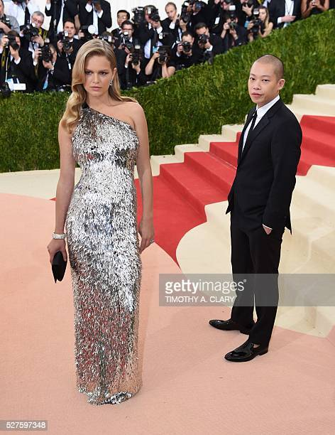 Anna Ewers and Jason Wu arrives at the Costume Institute Benefit at The Metropolitan Museum of Art May 2 2016 in New York / AFP / TIMOTHY A CLARY