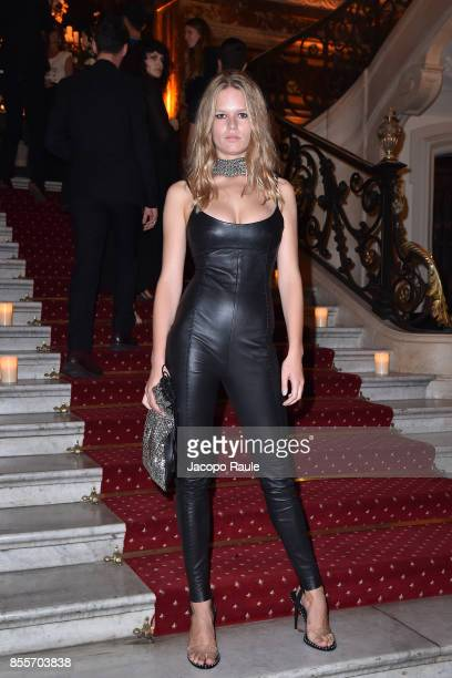 Anna Ewers attends the 20 Years Of MariaCarla Party as part of the Paris Fashion Week Womenswear Spring/Summer 2018 on September 29 2017 in Paris...