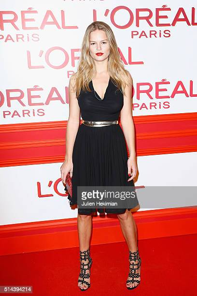 Anna Ewers attends the L'Oreal Red Obsession Party during Paris Fashion Week Womenswear Fall/Winter 2016/2017 on March 8 2016 in Paris France