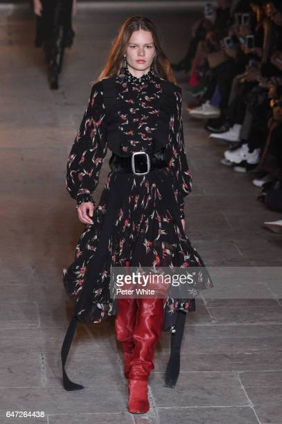 Anna Ewers walks the runway during the Isabel Marant show as part of the Paris Fashion Week Womenswear Fall/Winter 2017/2018 on March 2 2017 in Paris...