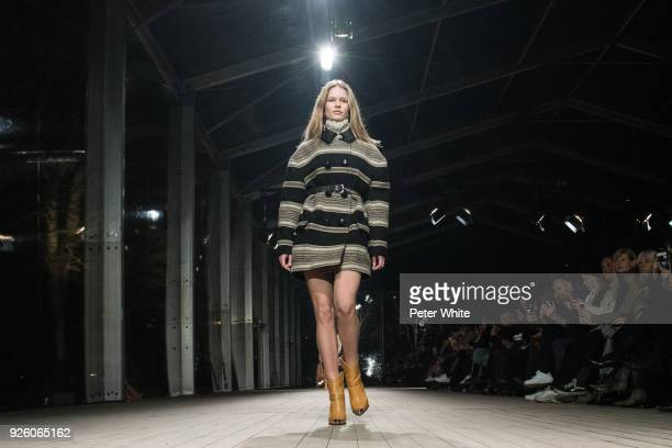 Anna Ewers walks the runway during the Isabel Marant show as part of the Paris Fashion Week Womenswear Fall/Winter 2018/2019 on March 1 2018 in Paris...