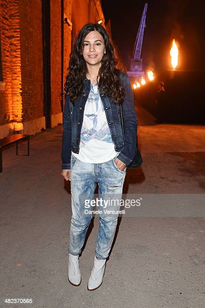 Anna F attends Diesel FW14 Collection Presentation Show at Tese di San Cristoforo on April 3 2014 in Venice Italy
