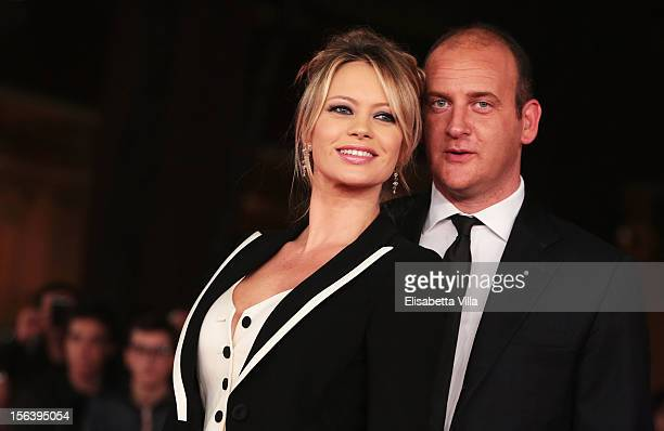 Anna Falchi and Andrea Ruggeri attends the 'E La Chiamano Estate' Premiere during the 7th Rome Film Festival at the Auditorium Parco Della Musica on...