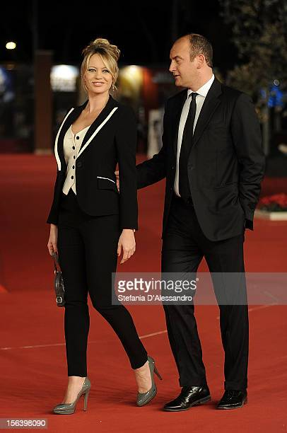 Anna Falchi and Andrea Ruggieri attend 'E La Chiamano Estate' Premiere at Auditorium Parco Della Musica on November 14 2012 in Rome Italy