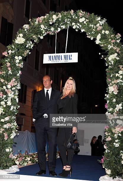 Anna Falchi and fiance attend 'Mamma Mia' Rome Launch at Teatro Brancaccio on October 13 2011 in Rome Italy