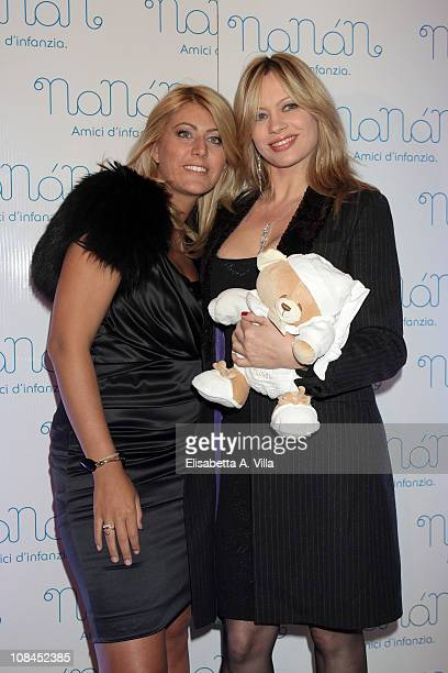 Anna Falchi and Licia Angeli attend the Nanan Flagship Store Opening on January 27 2011 in Rome Italy