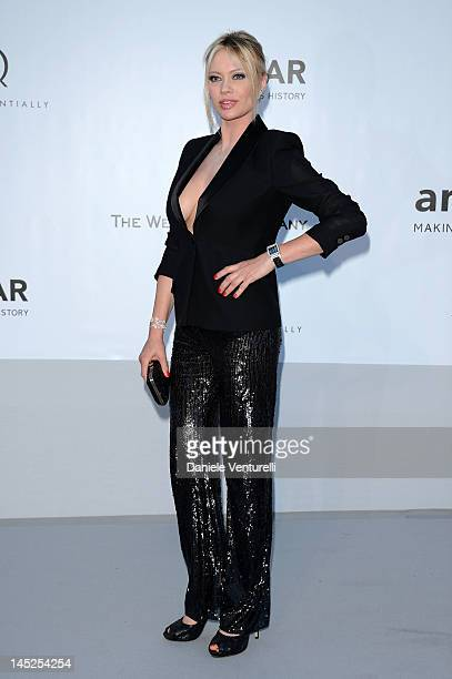 Anna Falchi arrives at 2012 amfAR's Cinema Against AIDS during the 65th Annual Cannes Film Festival at Hotel Du Cap on May 24 2012 in Antibes France
