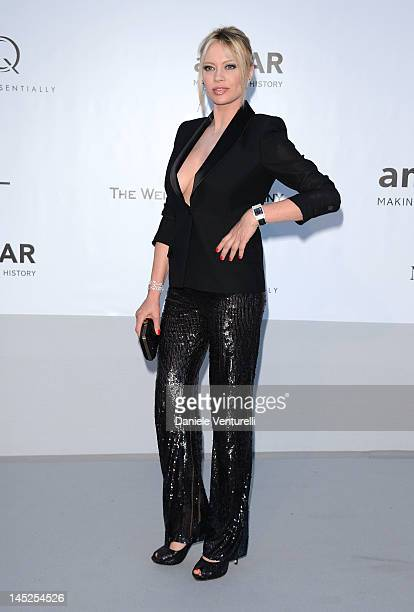 Anna Falchi arrives at 2012 amfAR's Cinema Against AIDS during the 65th Annual Cannes Film Festival at Hotel Du Cap on May 24 2012 in Cap D'Antibes...