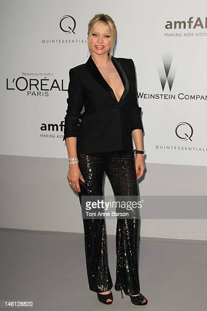 Anna Falchi attends amfAR's Cinema Against AIDS at Hotel Du Cap on May 24 2012 in Antibes France