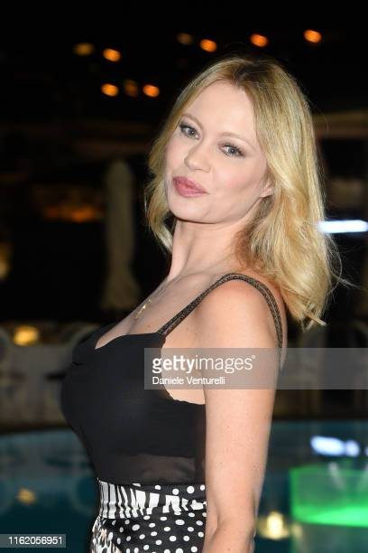 Anna Falchi attends the 2019 Ischia Global Film Music Fest opening ceremony on July 14 2019 in Ischia Italy