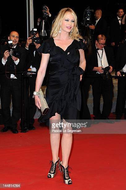 Anna Falchi attends the Dario Argento's Dracula 3D Premiere during the 65th Annual Cannes Film Festival at Palais des Festivals on May 19 2012 in...