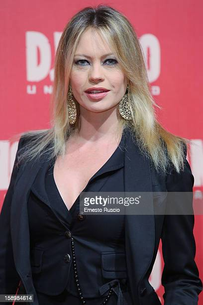 Anna Falchi attends the 'Django Unchained' premiere at Cinema Adriano on January 4 2013 in Rome Italy