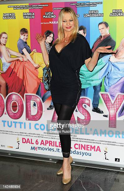 Anna Falchi attends the Good As You premiere at Cinema Fiamma on April 5 2012 in Rome Italy