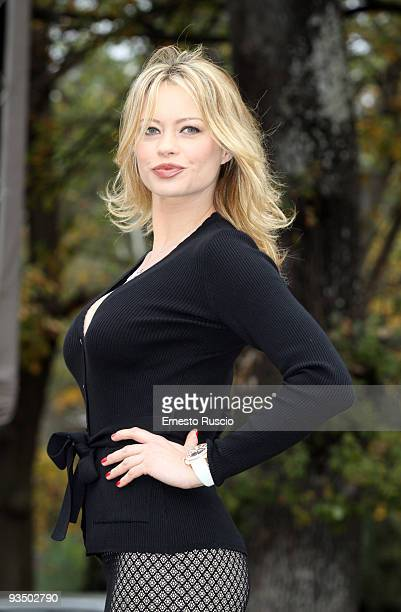 Anna Falchi attends the 'L'uomo Nero' photocall at La Casa Del Cinema on November 30 2009 in Rome Italy