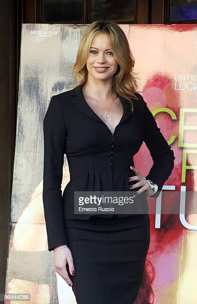 Anna Falchi attends the'Ce N'e Per Tutti' photocall at Embassy Cinema on November 17 2009 in Rome Italy