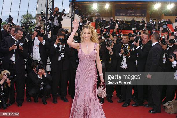 Anna Falchi during 2005 Cannes Film Festival Match Point Premiere in Cannes France