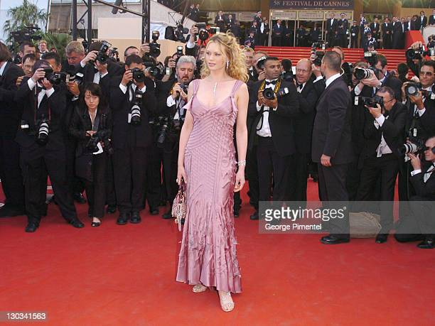 Anna Falchi during 2005 Cannes Film Festival 'Match Point' Premiere in Cannes France