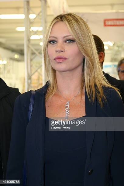 Anna Falchi during the inauguration of salon Bomboniera del Regalo e della Casa