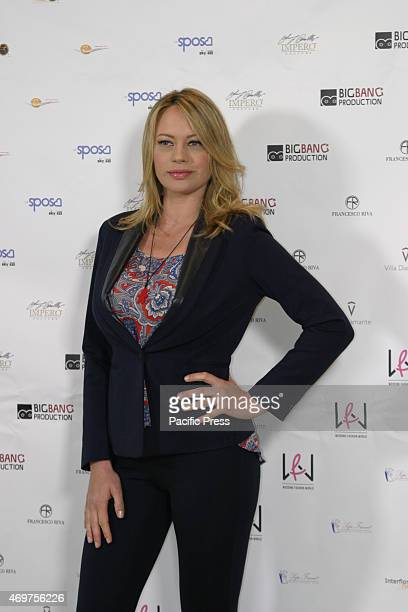 Anna Falchi in Naples presents 'Wedding Fashion World' presented with a cocktail party in Naples the new television project of the actress Anna...