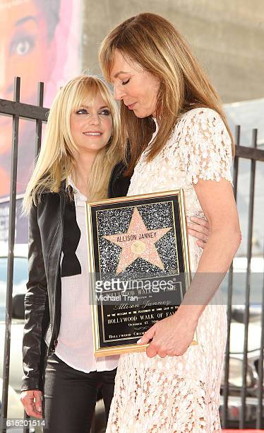 Anna Faris and Allison Janney attend the ceremony honoring Allison Janney with a Star on The Hollywod Walk of Fame held on October 17 2016 in...