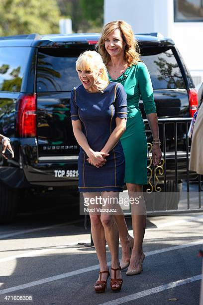 Anna Faris and Allison Janney visit Extra at Universal Studios Hollywood on April 29 2015 in Universal City California