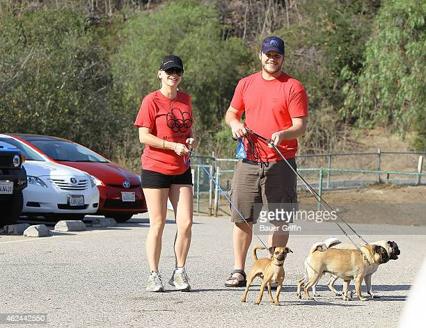Anna Faris and Chris Pratt are seen on August 04 2012 in Los Angeles California