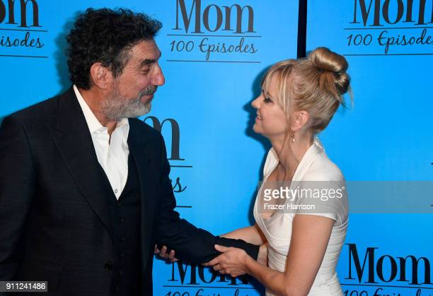 Anna Faris and Chuck Lorre attend CBS And Warner Bros Television's 'Mom' Celebrates 100 Episodes at TAO Hollywood on January 27 2018 in Los Angeles...
