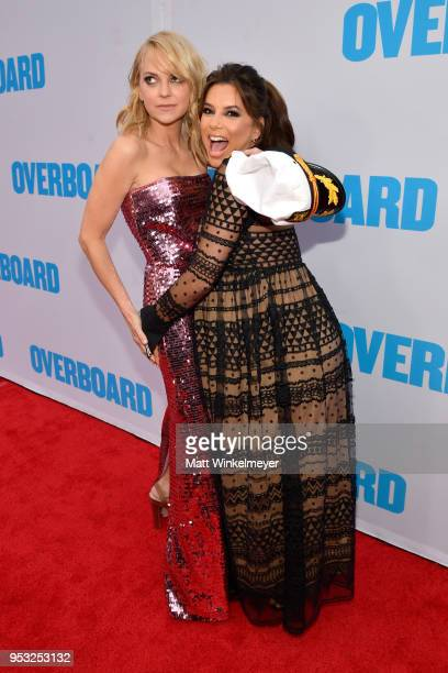 Anna Faris and Eva Longoria attend the premiere of Lionsgate and Pantelion Film's Overboard at Regency Village Theatre on April 30 2018 in Westwood...