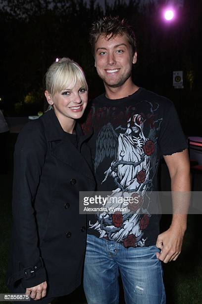 Anna Faris and Lance Bass at The Lollipop Theater Network's Game Day 2009 Sneak Peek Event held at The Home of Janet Crown on September 16 2008 in...