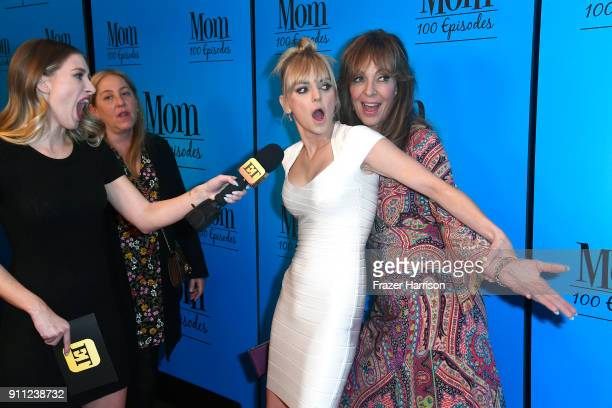 Anna Faris attends and Allison Janney attend CBS And Warner Bros Television's Mom Celebrates 100 Episodes at TAO Hollywood on January 27 2018 in Los...
