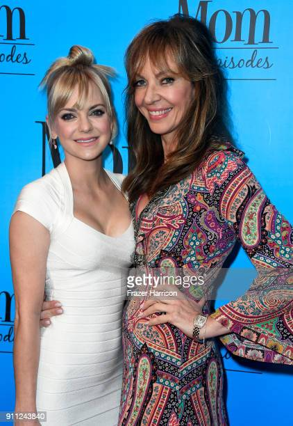 Anna Faris attends and Allison Janney attend CBS And Warner Bros Television's 'Mom' Celebrates 100 Episodes at TAO Hollywood on January 27 2018 in...