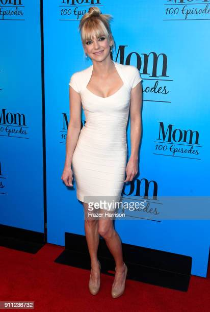 Anna Faris attends CBS And Warner Bros Television's Mom Celebrates 100 Episodes at TAO Hollywood on January 27 2018 in Los Angeles California