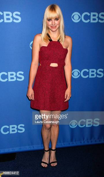 Anna Faris attends the 2013 CBS Upfront at The Tent at Lincoln Center on May 15 2013 in New York City