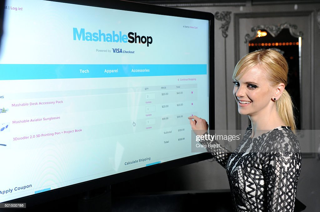 anna faris attends the mashable shop powered by visa checkout