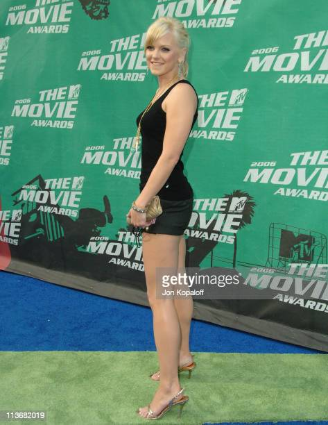 Anna Faris during 2006 MTV Movie Awards Arrivals at Sony Studios in Culver City California United States