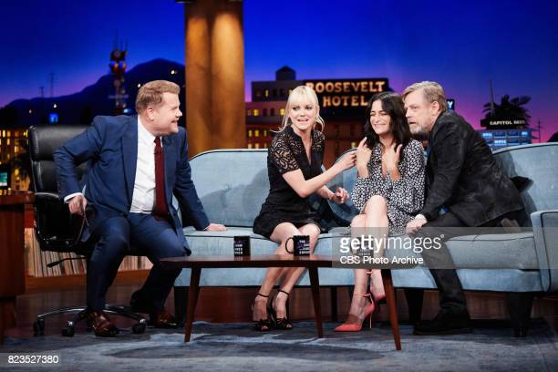 Anna Faris Jenny Slate and Mark Hamill play I Am Your Father with James Corden during 'The Late Late Show with James Corden' Monday July 24 2017 On...