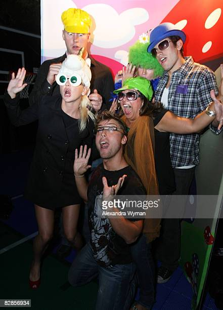Anna Faris Lance Bass and Guests at The Lollipop Theater Network's Game Day 2009 Sneak Peek Event held at The Home of Janet Crown on September 16...