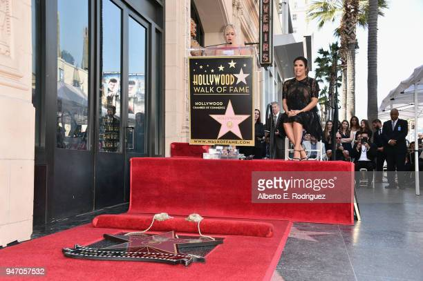 Anna Faris speaks as Eva Longoria is honored with star on The Hollywood Walk of Fame on April 16 2018 in Hollywood California