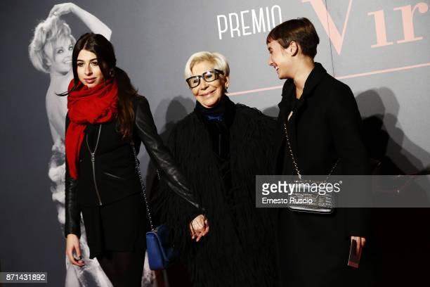 Anna Fedi Leonida and Mina attend The Virna Lisi Award at Auditorium Parco Della Musica on November 7 2017 in Rome Italy