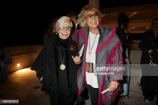 Anna Fendi and Alda Fendi attend Fondazione Alda Fendi Esperimenti Jean Nouvel Rhinoceros on October 11 2018 in Rome Italy