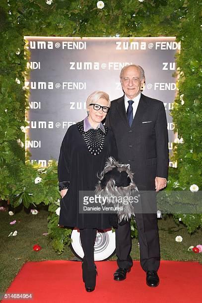 Anna Fendi and Giuseppe Tedesco attend Palazzo FENDI And ZUMA Inauguration on March 10 2016 in Rome Italy