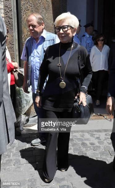 Anna Fendi attends the Laura Biagiotti funeral service in Basilica Santa Maria degli Angeli on May 27 2017 in Rome Italy