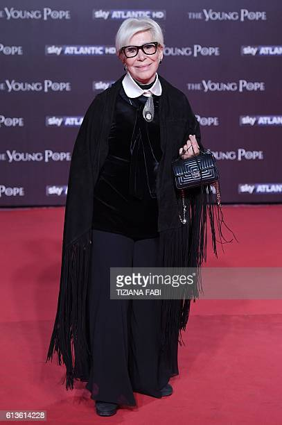 Anna Fendi attends the premiere of the television series created by Paolo Sorrentino The Young Pope on October 9 2016 in Rome / AFP / TIZIANA FABI