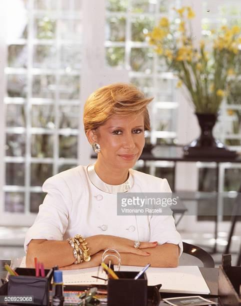 Anna Fendi one of the five Fendi sisters head of the Fendi Italian luxury fashion house